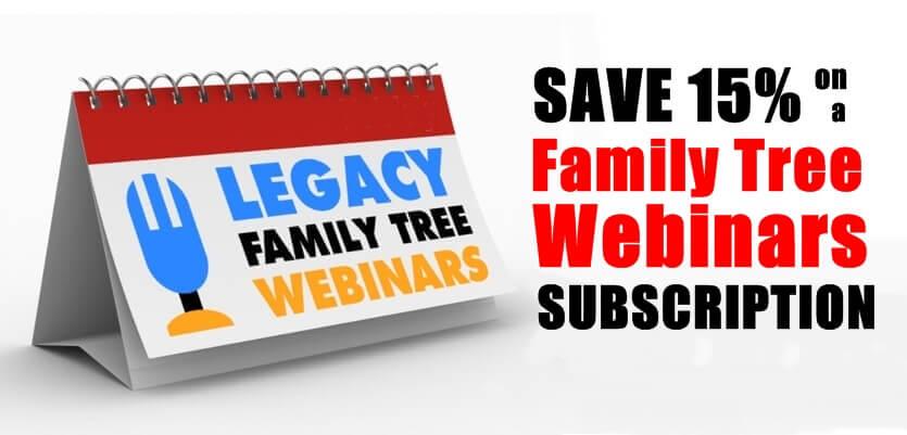 BIRTHDAY SPECIAL: Save 15% on a Family Tree Webinars Subscription