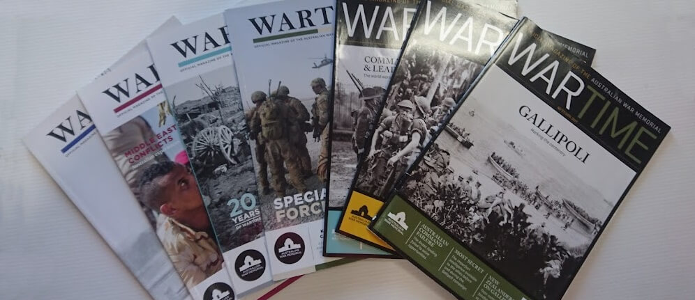 CLEARANCE: AWM's 'Wartime' Magazine Back Issues